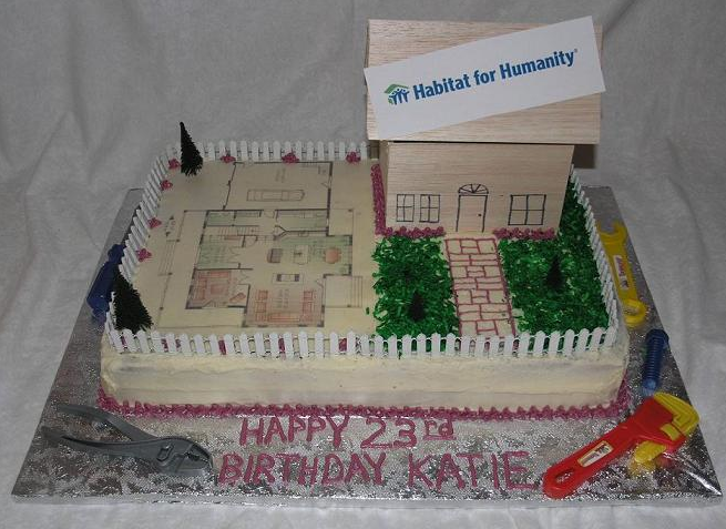 Habitat for Humanity? What? This isn't even the cake I ordered.Piece-A-Cake.Com